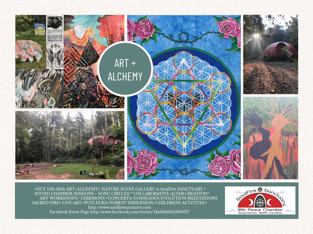 Art + Alchemy : Co Creation in the Forest October 13-20, 2019